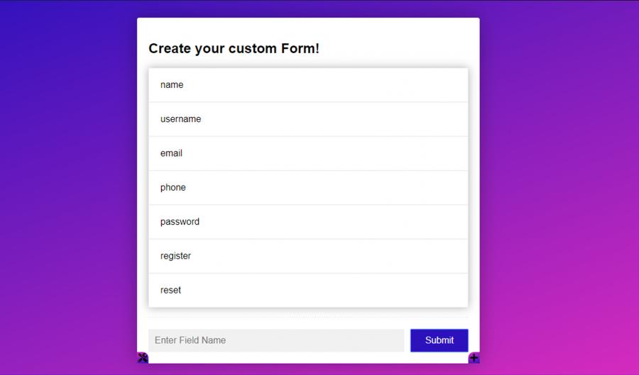 HTML Form Builder By MD Khokon - Free Download